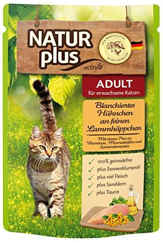 Natur Plus Katzenfutter Blanchiertes Hühnchen an feinen Lammhäppchen 6 x 85 g