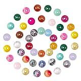 NBEADS 200 cuentas de piedras preciosas, 6 mm/8 mm mezcladas y sin teñir, cuentas sueltas redondas para pulseras, collares, pendientes, joyería