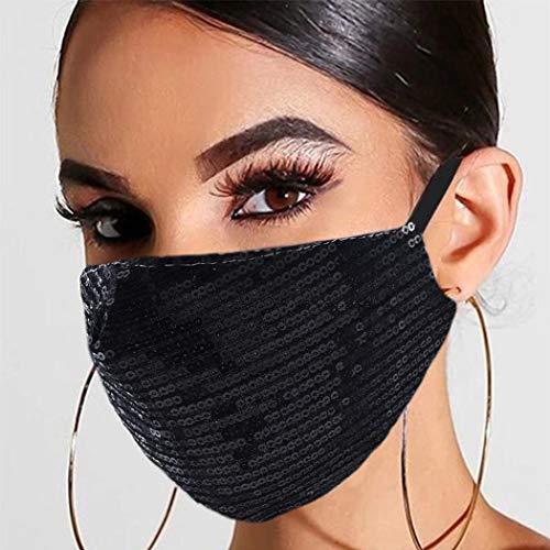 Yean Pailletten-Maske, schwarz, für Maskerade, modische Gesichtsmasken, venezianischer Mardi-Gras-Schmuck für Frauen und Mädchen