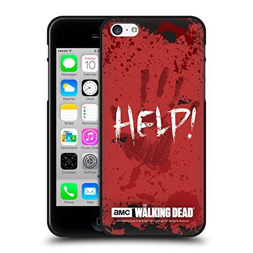 Head Case Designs Oficial AMC The Walking Dead Ayudar Citas Funda de Gel Negro Compatible con Apple iPhone 5 / iPhone 5s / iPhone SE 2016