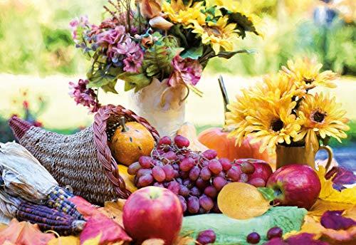 Blankokarte, Glückwunschkarte Blanko, Karte ohne Text, im Format DIN B6 176 x 125 mm, Klappkarte inkl. Umschlag, Motiv: Obst und Gemüse