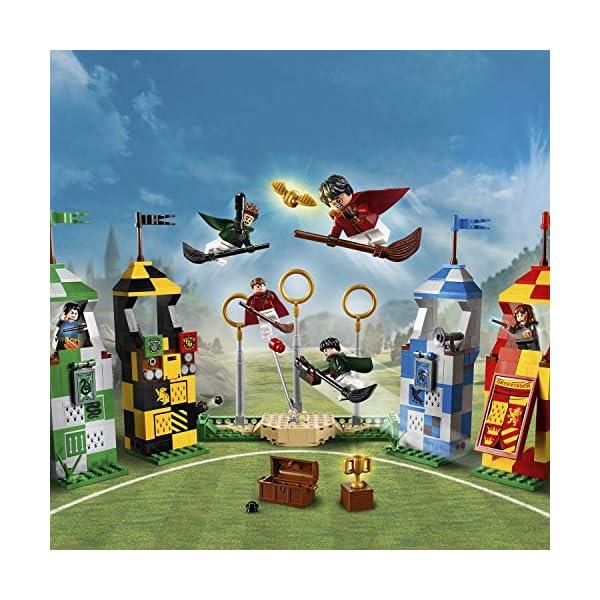 LEGO Harry Potter - Partido de Quidditch, Set de Construcción de Juguete del Deporte de Hogwarts (75956)