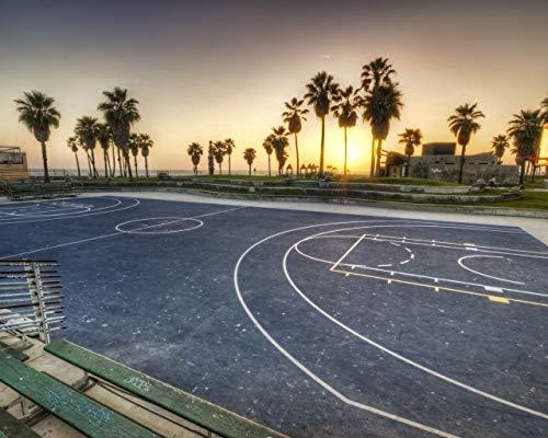 Kpoiuy DIY ÖL Malen Nach Zahlen Kit,Malerei Lacke Evening Playground Basketball Markup Zeichnung Mit Pinsel 16 * 20 Zoll Weihnachten Dekor Dekorationen Geschenke (Ohne Rahmen)