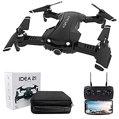 le-idea GPS Drone with 4K Camera for Adults, 5G WIFI Transmission, Foldable FPV Drone Return Home, Follow Me,Indoor and Outdoor Mode Protection, Includes Carrying Bag (IDEA21 PRO)