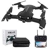 le-idea 21 - Drone GPS avec caméra 4k, Mini Drone Pliable FPV WiFi 5 GHz, Caméra FOV 120 °, Mode de Protection intérieure, Sac de Transport