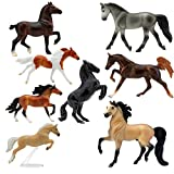 Breyer Horses Stablemates Deluxe Horse Collection | 8 Horse Set | Horse Toy | Horse Figurines | 3.75' x 2.5' | 1:32 Scale | Model #6058