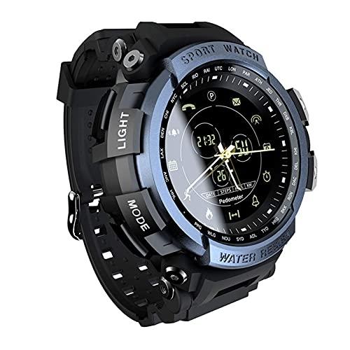 X&Z-XAOY Bluetooth 4.0 Smart Watch, Fitness Tracker, Pulsera Deportiva Gestión De Salud Al Aire Libre Paso contra Montañismo Impermeable (Color : Blue)
