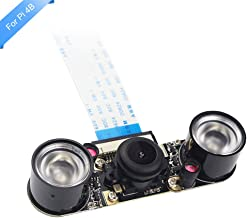 LANDZO Fisheye Wide Angle 5MP 1080p Night Vision Camera Module for Raspberry Pi 4 Model B and Raspberry Pi 3 B/B+