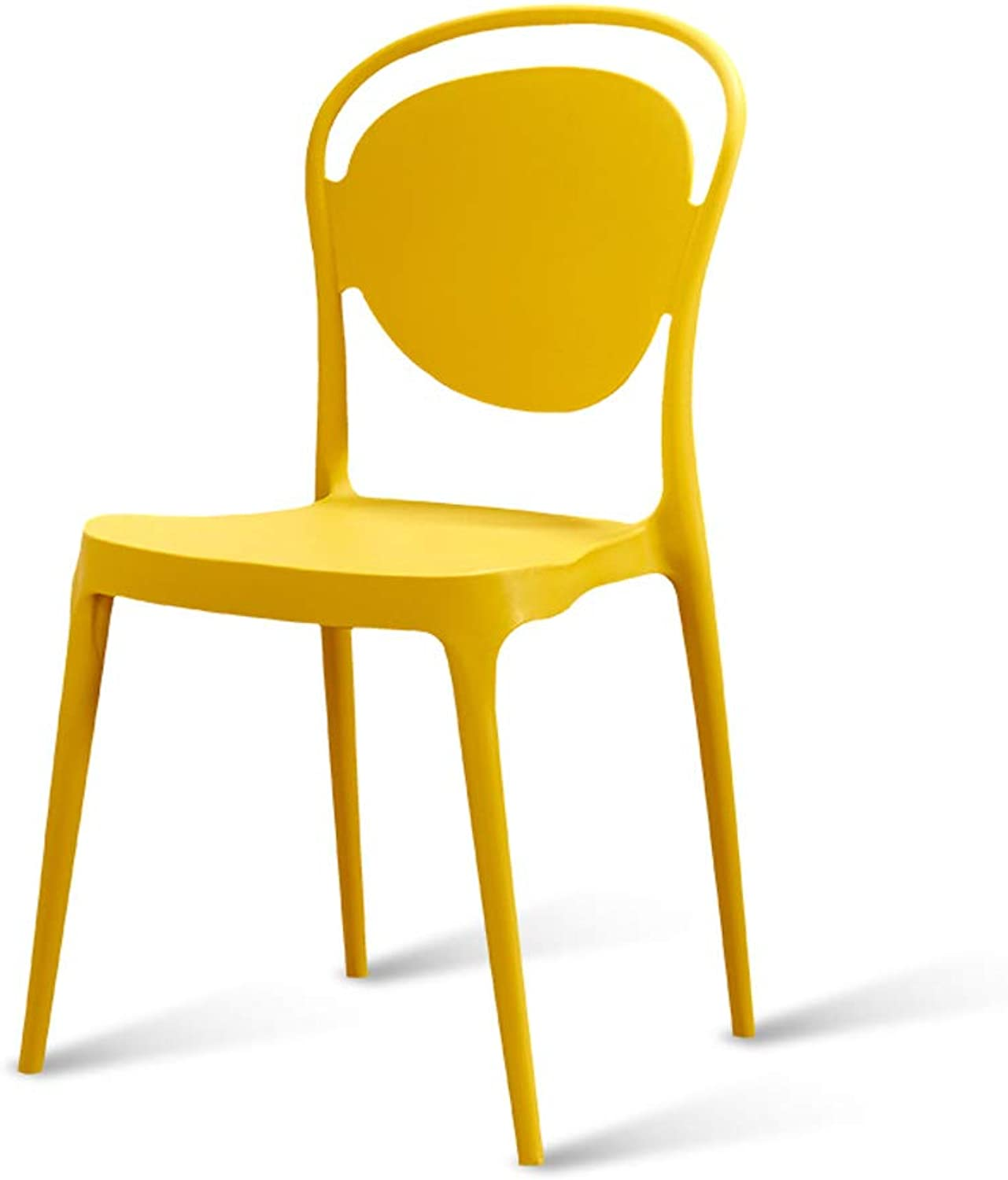 Modern Nordic Simple Dining Chair Backrest Creative Office to Discuss Chairs Adult Plastic Fashion Restaurant Chair Stool Yellow
