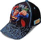 DC Comics Boys Baseball Cap with 3D POP: Batman, Superman and Justice League (Ages 2-4)