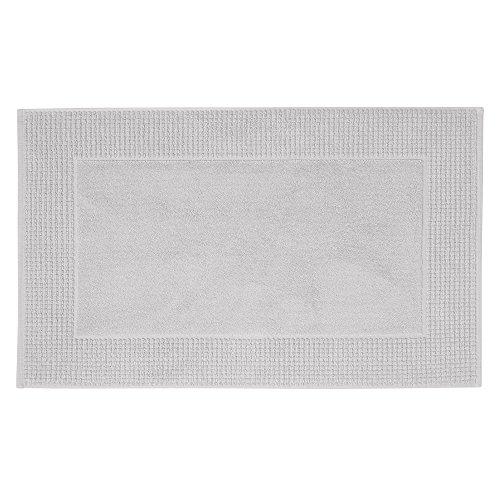 Jalla Tapis de Bain, 100% Coton, Grigio, 50x80 cm