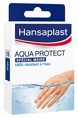 Hansaplast Aqua Protect Hand Set Pflaster, transparent, 4Größen, 16 Stück