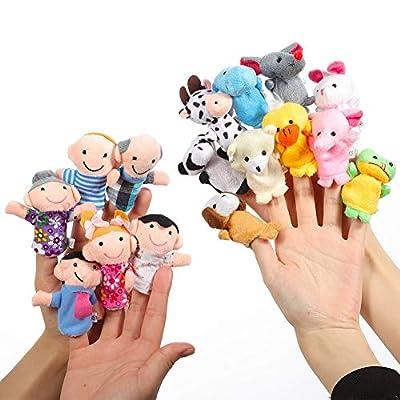 Twister.CK Finger Puppets Set (16pcs) Animal Finger Puppets Family Finger Puppets Finger Puppets Rubber Finger Puppet Theater Different Finger Puppets for Kids Finger Puppets for Toddlers. by PJ-5L96-DQZQ