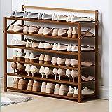 Estante De Zapatos De Bambú Natural,Plegable Organizador De Almacenamiento Del...
