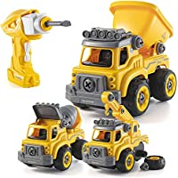 Construction Truck Take-Apart Toy with Electric Drill