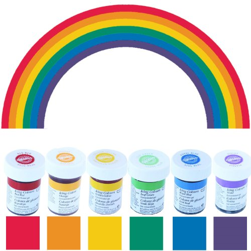 Colorantes alimentarios Wilton en formato ahorro (6 x 28 g) - Edición arco iris