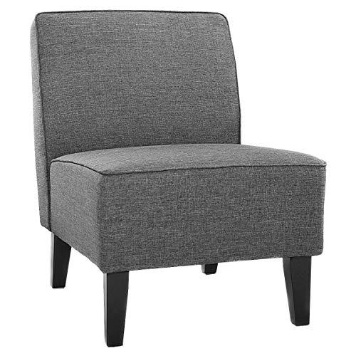 GXK Esszimmerstuhl Polsterstuhl Loungesessel ohne Armlehne Designerstuhl Akzentstuhl (Color : Grau)