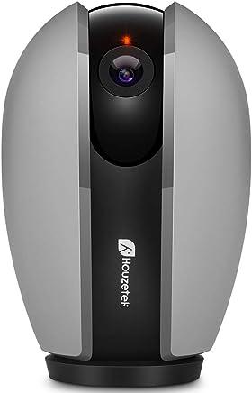 Telecamera WiFi, Telecamera di Sorveglianza Wireless 1080P HD IP Camera WiFi/Ethernet con Istruzioni per l'uso App DVR/NVR Assistenza in Italiano Compatibile con Windows PC/iOS/Android