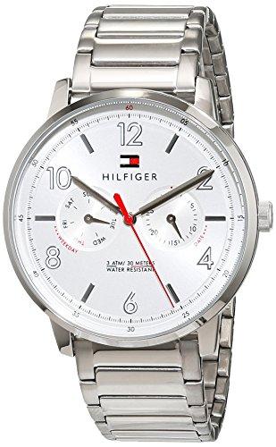 Tommy Hilfiger Herren Multi Zifferblatt Quarz Uhr mit Edelstahl Armband 1791355