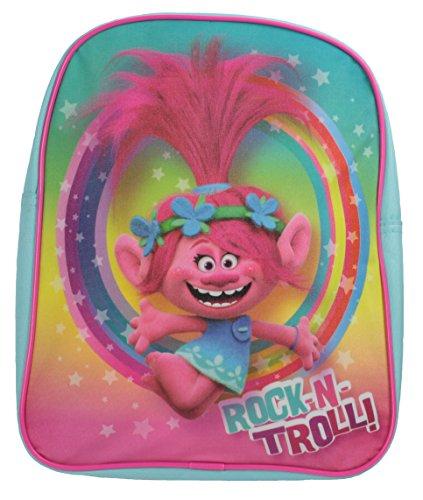 Offizielle Trolle Rock N Troll Poppy Türkis Glitter Schule Rucksack Tasche
