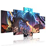 CAFO Wall Landscaping Warhammer Total War 2 - Póster de pared (5 paneles, 200 x 100 cm)