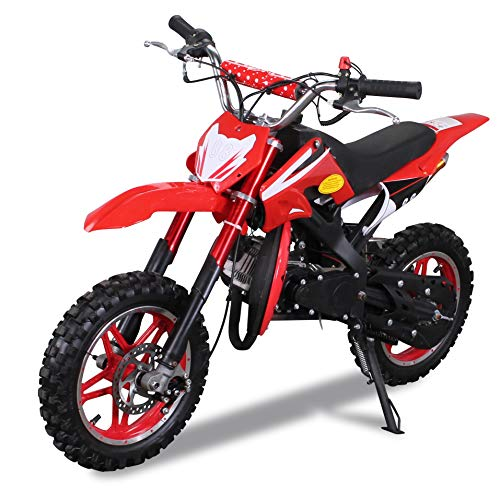 Kinder Mini Crossbike Delta 49 cc 2-takt Dirt Bike Dirtbike Pocket Cross (Rot)
