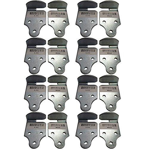 (8) Pair Stake Rack Connector Trailer Side Panel Corner Bracket...