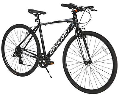 Dynacraft Alpine Eagle 700C 50CM Aluminum Frame Hybrid Bike, Black