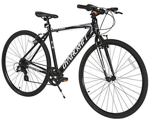 Dynacraft Alpine Eagle 700C 50CM Aluminum Frame Hybrid Bike, Black