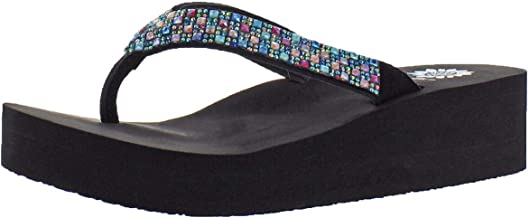 Yellow Box Women's Scalia Rhinestone EVA Thong Flip Flop Sandals