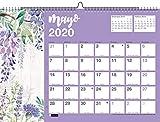 Miquelrius 28054 - Calendario de Pared A3 para escribir Flores 2020 Castellano