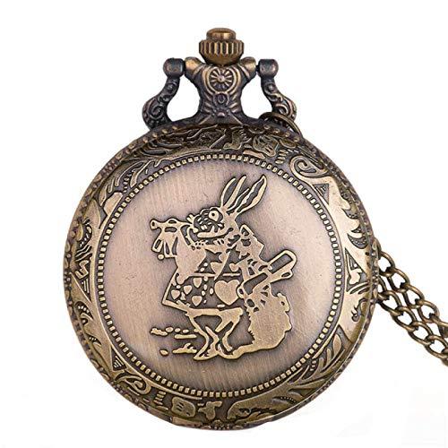 Vintage Cuarzo Relojes de Bolsillo analógico Colgante Collar Reloj 3