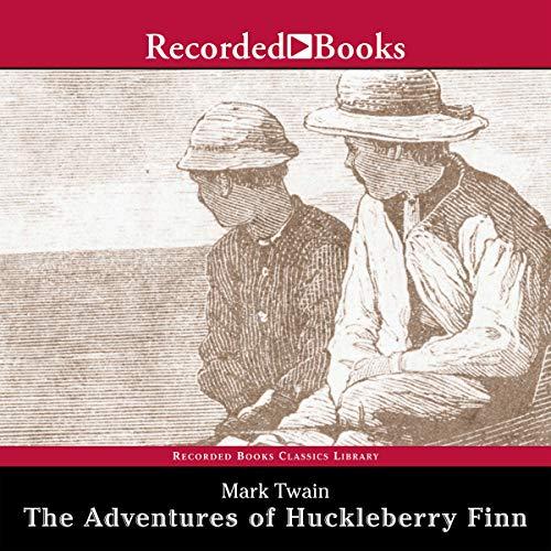 The Adventures of Huckleberry Finn audiobook cover art
