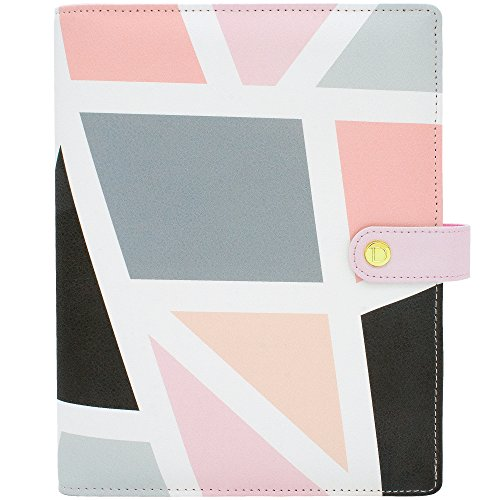 Discagenda Mosaic Ringbound Ring Binder Planner Personal Organizer Cover With Accessories (A5)