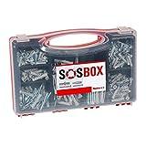 Fischer SOS di Box, spreizduebel S universali, tasselli e Viti Set, 360 Pezzi, 533629, Black, Set di 360