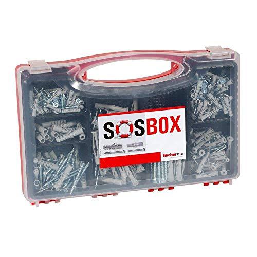 fischer SOS-Box mit Spreizdübel S und Universaldübel FU - Für zahlreiche Baustoffe und vielfältige Anwendungen - inkl. passenden Schrauben - 360 Teile - Art.-Nr. 533629