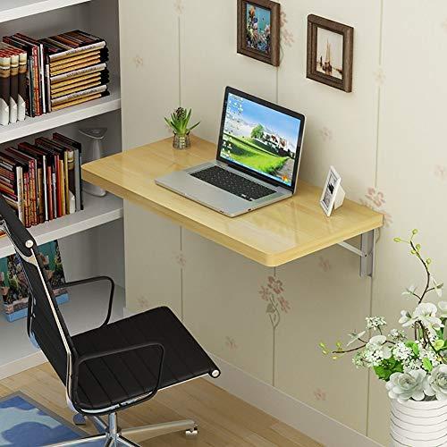 ZQH Escritorio para ordenador de pared para uso doméstico -Mesa de madera maciza Mesa plegable