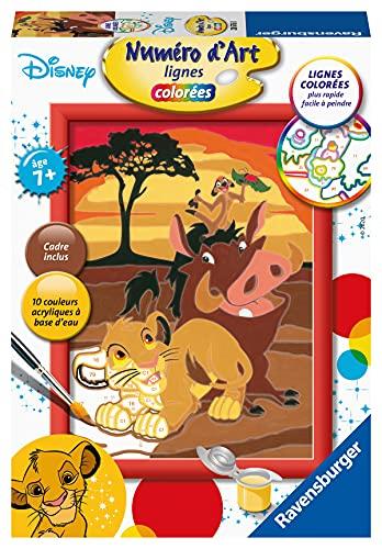 Ravensburger – Numéro d'art petit format– Disney Le Roi Lion – loisir créatif – kit de peinture acrylique – activite détente – enfant dès 7 ans – 28676