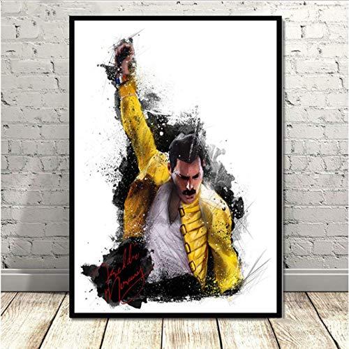 Poster Und Drucke Bohemian Rhapsody Queen Wandkunst Leinwand Malerei Wandbilder Für Wohnzimmer Wohnkultur 40X60 cm Ohne Rahmen