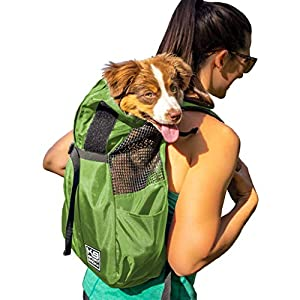 K9 Sport Sack Trainer | Dog Carrier Dog Backpack for Small and Medium Pets | Front Facing Adjustable Dog Backpack Carrier | Veterinarian Approved (Medium, Greenry)