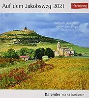 Auf dem Jakobsweg Kalender 2021: Kalender mit 53 Postkarten
