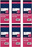 Adams Money/Rent Receipt Book, Carbonless, 3-Part, 2-3/4 x 7-3/16 Inches, 50 Sets per Book, Pack Of 6