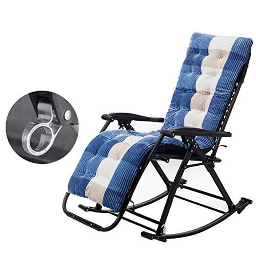 N /A Chaise longue de jardin pliante inclinable réglable avec siège zéro gravité léger cadre en acier robuste, rangement facile
