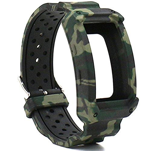 Elespoto para Samsung Gear FIT2 Pro Correa de Silicona Reloj Pulsera Correa de reemplazo Banda para Samsung Gear fit 2 Gear Fit 2 Pro Smartwatch Fitness (Camo)