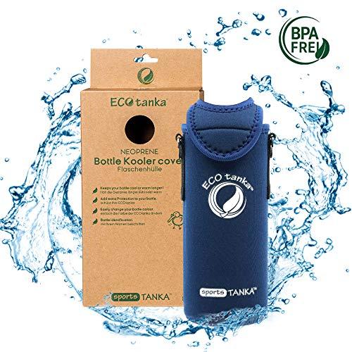 ECOtanka sportsTANKA KOOLER für Trinkflasche aus Edelstahl 0,8 Liter in Blau