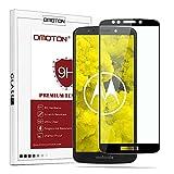 OMOTON Panzerglas Schutzfolie für Motorola Moto g6 Play, volle Bedeckung, Anti- Kratzer, Bläschenfrei, 9H Härte, HD-Klar, [3D R&e Kante] (5,7 Zoll)-Schwarz