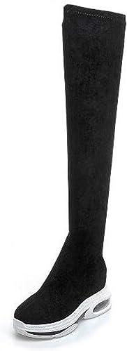 Jiang-zx zapatos de mujer, Aumento de botas elásticas Sobre la Rodilla