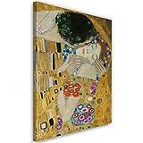 Cuadro en Lienzo El Beso Calidad fotografica Gustav Klimt Dorado 40x60 cm