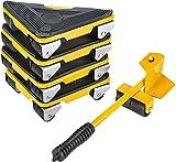 sollevatore per mobili con ruote, set di rulli mobili per mobili, strumenti per spostare mobili pesanti, max fino a 300 kg, cuscinetti ruotabili a 360 gradi