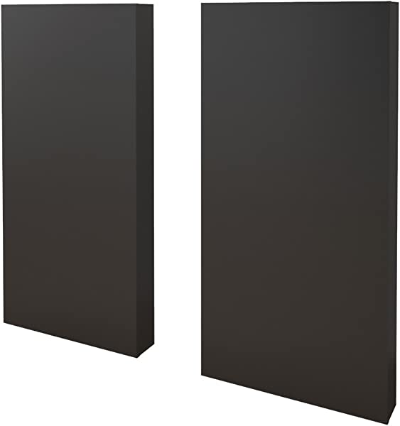 Nexera 365506 Two Extension Panels For Plank Effect Headboards Black